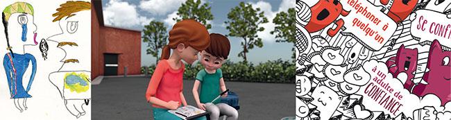 Outils de sensibilisation à la violence conjugale créés par et pour les enfant