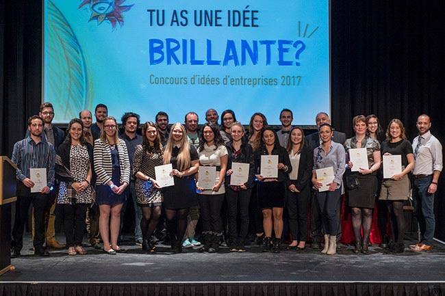 Gagnants du concours d'idées d'entreprises