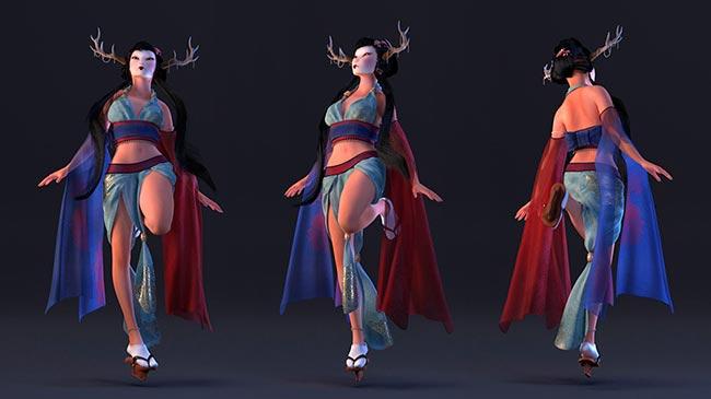 Meilleure conception 3D personnage - Geisha