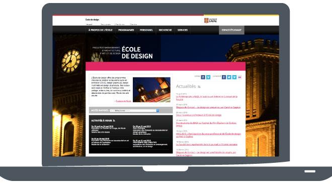 Site web de l'École de design
